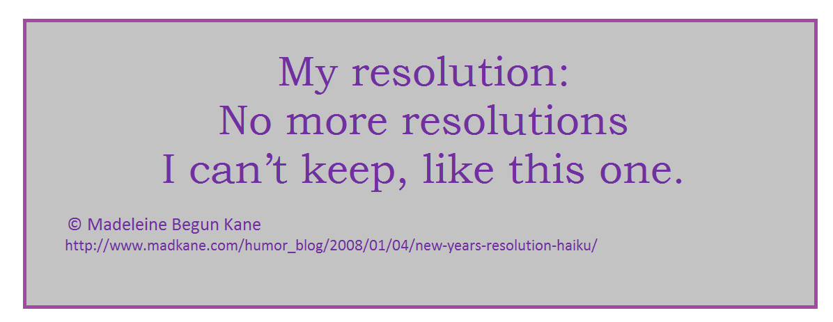 New Year\'s Resolutions Verse « MAD KANE\'S HUMOR BLOG